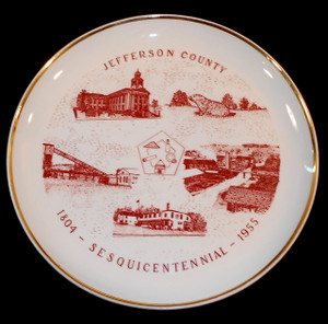1955 Vintage Jefferson County Pennsylvania Sesquicentennial Anniversary Collector Plate