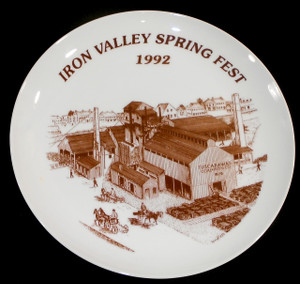 1992 Iron Valley Spring Fest Limited Edition Collector Plate - Tuscarawas Coal & Iron Co. Graphics