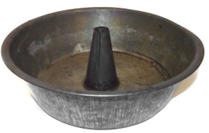 Antique Primitive Tin Angel Food Cake Pan