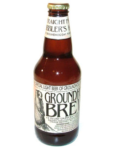 Unopened Groundhog Brew Beer Straub Beer Bottle - Punxsutawney, PA