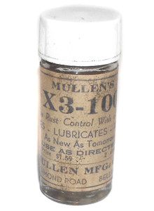 Old Bottle of Mullen's X3-100 Rust Control Solution