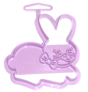 1993 Wilton Easter Bunny with Bow Vintage Plastic Cookie Cutter
