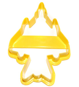 """1994 Fighter Jet """"Airplane"""" Yellow Plastic Ekco Cookie Cutter"""