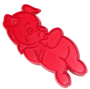 Red Pig Shy Piggy Shaped Vintage Tupperware Cookie Cutter