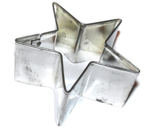 Vintage Tin Five Point Star Shaped Handmade Cookie Cutter