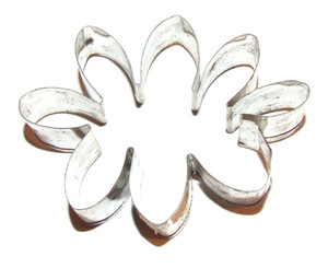 Vintage Tin Handmade Cloud or Squished Flower Cookie Cutter