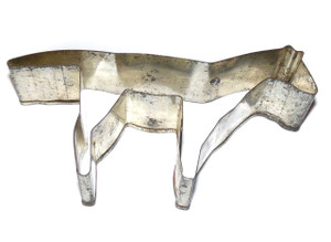 Vintage Tin Naive Horse Shaped Handmade Cookie Cutter