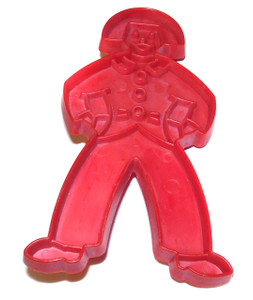 Vintage Tupperware Red Plastic Gingerbread Man Boy Shaped Cookie Cutter