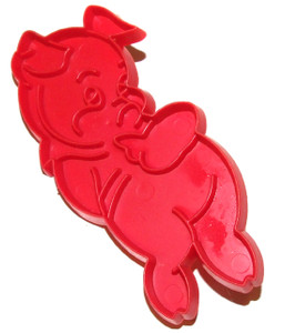 Vintage Tupperware Shy Pig Shaped Cookie Cutter
