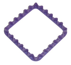 Wilton Rippled Square Shaped Vintage Plastic Christmas Cookie Cutter