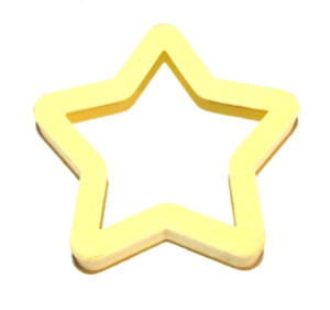 Yellow Plastic Star Shaped Christmas Cookie Cutter