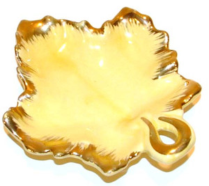 1950's Gilded Maple Leaf Nappy Dish