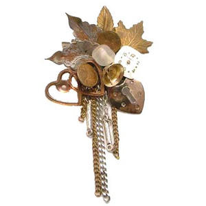 Artisan Crafted Cluster Brooch