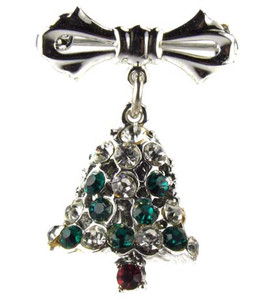 Dodds Silver Articulated Christmas Bell Brooch