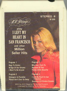 101 STRINGS I left my heart in San Fransicso 8 Track Tape