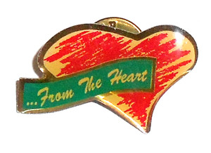 1980's Vintage ...From the Heart Nurses Caring Lapel Pin