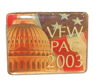 2003 VFW PAC Lapel Pin with Image of Capitol & Flag
