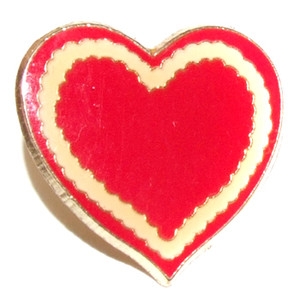 Valentine's Day Heart Shaped Lapel Pin