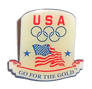 Vintage Aminco USA Go for the Gold Olympics Lapel Pin