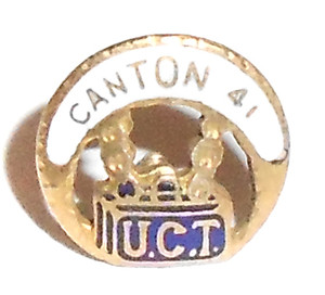 Vintage Enameled Gold Filled UCT Lapel Pin Tie Tack - Canton 41