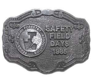 1985 Pennsylvania Forestry Association Safety Field Days Belt Buckle by C-D Hit