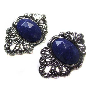 Avon Blue Faceted Tradition Earrings