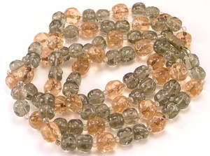 Dimpled Lampwork Glass Bead 34 Inch Necklace