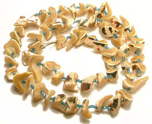 Heavy Polished Shell Bead Necklace