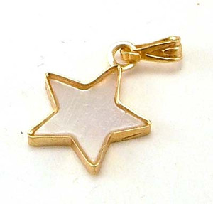 Mother of Pearl Star Necklace Pendant Charm