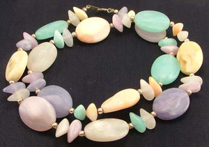 Pastel Lucite Chunky Bead Necklace