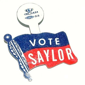 1950's Tabbed Campaign Button - John Phillips Saylor