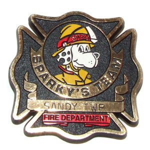 NFPA Sparky's Team Sandy Township Fire Department Fire Prevention Badge - DuBois, PA