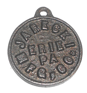 Antique Jarecki Mfg. Co. 1876 Centennial Watch Fob - Erie, PA