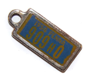 1954 DAV License Plate Key Fob - Pennsylvania