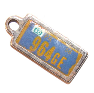 1960 Pennsylvania DAV License Plate Key Chain Fob
