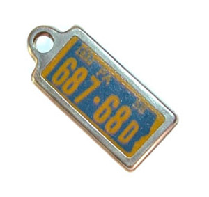 1961 Pennsylvania Miniature License Plate Key Fob PA Keychain