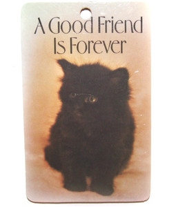 1980 Kitty Cat Keychain Paula's Key Rings A Good Friend is Forever
