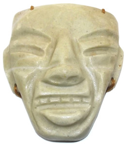Vintage Made in Mexico Carved Alabaster Marble Face Wall Hanging Decoration