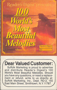 100 World's Most Beautiful Melodies - #2 -5722 Cassette Tape