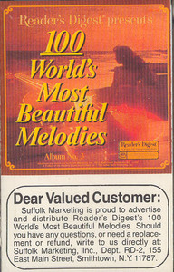 100 World's Most Beautiful Melodies - #3 -5727 Cassette Tape