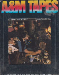Captain & Tennille: Come in from the Rain  8 Track Tape