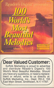 100 World's Most Beautiful Melodies - #3 -5728 Cassette Tape
