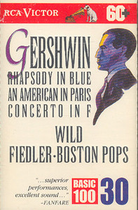 Arthur Fiedler-Boston Pops: Gershwin Rhapsody in Blue, An American in Paris, Concerto in F Cassette Tape