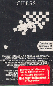 Chess - Original Cast Recording Cassette Tape