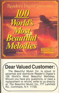 100 World's Most Beautiful Melodies - #3 -5729 Cassette Tape