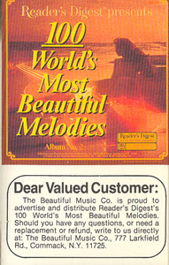 100 World's Most Beautiful Melodies - #2 -5724 Cassette Tape