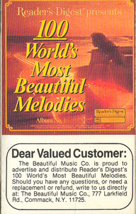 100 World's Most Beautiful Melodies - #1 -5720 Cassette Tape
