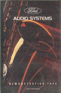 Ford Audio Systems Demonstration Tape Cassette Tape