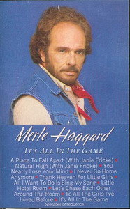 MERLE HAGGARD: It's All in the Game Cassette Tape