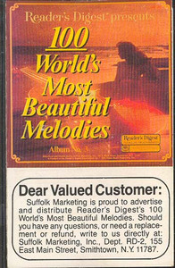 100 World's Most Beautiful Melodies - #3 -5730 Cassette Tape